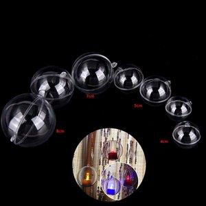 4-8cm Noel Şeffaf Plastik Şeker Kutusu Bauble Xmas Ball Süsler Ağacı Doldurulabilir Yeni Clear Toplar Ev Dekorasyonu Asma