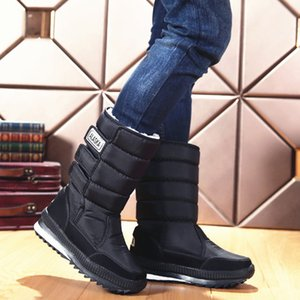 Winter Men Boots Waterproof Ankle Boots Down Warm Snow Boots Shoes Man Fur Insole Botas Mujer
