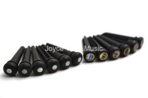 2 Sets of 12pcs Niko Acoustic Guitar Bridge Pins Ebony With Shell Dot Brass Ring Free Shipping Wholesales