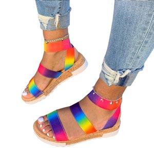 Kadınlar için Sandalet Geniş Genişlik Yaz Rahat Platformlar Sandal Ayakkabı Plaj Ayakkabı Casual Terlik Floplar
