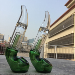 2019 Nuevo 6.0 pulgadas de vidrio Sherlock Pocket Bubbler Mini Sherlock tubo de mano Tubo de fumar Blunt de vidrio para hierba seca En stock