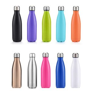 500ml 304 stainless steel Insulation Cup electroplated bowling ball large capacity sports cup fashion Vacuum Cup Water Bottles Y1I05