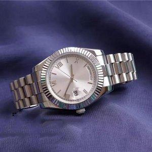 시계 Daydate 남성 시계 데이 날짜 스테인레스 스틸 대통령 자동 기계 다이아몬드 시계 디자이너 시계 Orologio