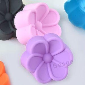 5 cm Çiçek Silikon Kalıplar DIY El Sabunu Kalıp Silikon Kek Kalıp Fondan Kek Dekorasyon Araçları Muffin Cupcake Pişirme Kalıpları DBC BH2777 Şeklinde