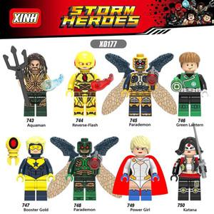 X0177 DC 슈퍼 히어로 카타나 아쿠아 파워 소녀 부스터 골드 Parademon 역 플래시 그린 랜턴 장난감
