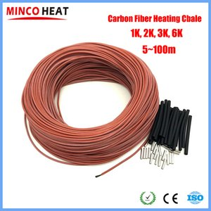 Cheap Wires & Cables 6 1 2K 3K High Quality Thicker Silicone Rubber Carbon Fiber Cable Heating Wire DIY Heating Products