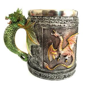 Super Cool 2019 Retro Royal Dragon Becher Schlange mittelalterlichen Sammlerstück Stein Drachen Wirbelsäule Tankard Trinkgefäß als schönes Geschenk