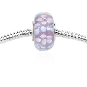 New fashion loose beads 925 Sterling Silver Murano Glass Charm Bead For Pandora Bracelet Epacket free shipping