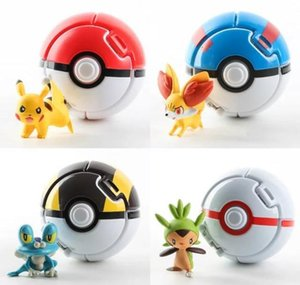 4 шт. / лот Pokeball Go Toys Pocket Monster Explosion Pokeball Super Master Model Figure Toys T200505