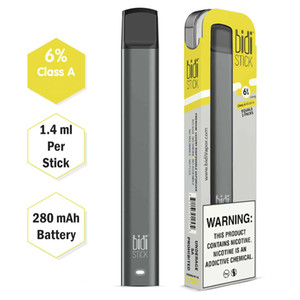 Le meilleur gros BIDI bâton dispositif à usage unique cartouche MTL 1,4 ml Airflow Bidi stick Pod E Cigarette pods VS Puff plus