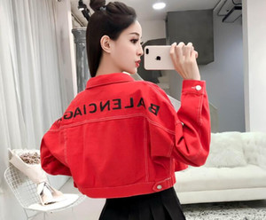 Harajuku Kadın fermuar hırka ceket tasarımcı Beyzbol ceketler kadın kot Kadın Rahat