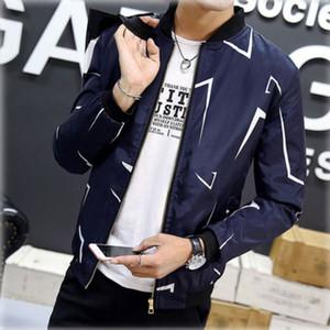 hirigin 2017 Moda Uomo stile coreano del rivestimento del cappotto del collare Slim Fit casuale outwear Tops Autunno Inverno NUOVO