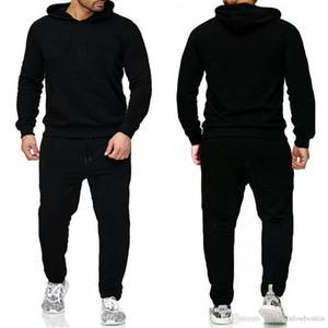 Marka Kazak Setleri Erkekler Eşofmanlar Rahat Hoodies Pantolon Erkek Spor Pantolon Hoody Kazak Erkek Jogging Sweatpant 2 ADET Takım Elbise