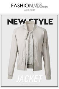 Loose Women Divisa da baseball stand colletto della giacca a maniche lunghe Zipper signore Primavera Autunno Cappotto casuale