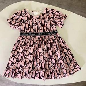 Mädchen Art und Weise kleidet Sommer-Baby-Mädchen-Plaid Neugeborene Mädchen-Sommer-Kleid-Kind-Prinzessin-Baby-Kleid 011110