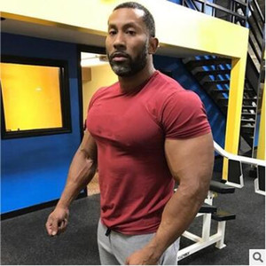 Neues Design Sommer T-Shirt Mens Gyms Kleidung Kurzarm Fit T-shirt Ftiness Männer kompression T-shirt homme Mit Plus Größe