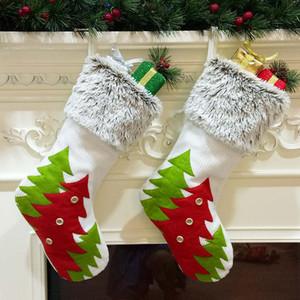Calze natalizie di alta qualità Sacchetti regalo Flanella natalizia Non tessuto Calza natalizia Calze decorative grandi dimensioni Borsa DBC VT0757