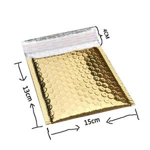 DHL 50pcs de correo Bolsas de CD CVD de empaquetado de la burbuja Envío Sobres de papel de oro sobres acolchados bolsa de regalo Burbuja de correo del sobre del bolso