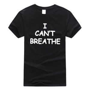 I Can't Breathe Letter Print T Shirt Short Sleeve O Neck Loose Tshirt Summer Women Man Tee Shirt Tops S-4XL