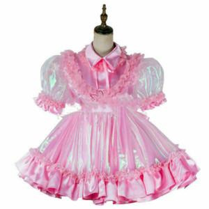 sissy boy saten organze Mini elbise Tailor-made çapraz gelinler