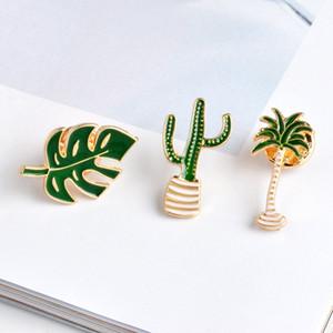 Hot Fashion Jewelry Women's Elegant Plant Brooch Coconut Cactus Leaf Brooch Corsage S382