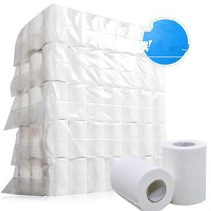 Tuvalet Kağıdı Rulo Doku 4-Katman Yumuşak Tuvalet Ev Rolling Kağıt 4Ply Tuvalet Kağıdı kağıt havlu KKA7703 pürüzsüz