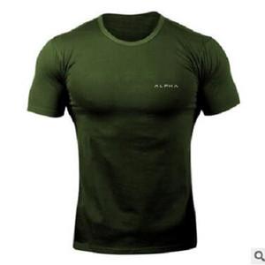 موضة بلايز طبع الرجال الصيف بلايز تيز الرجال فضفاض O-الرقبة قصيرة الأكمام عارضة بلايز زائد الحجم ALPHA قميص الرجال