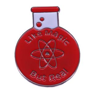 Как магия, но настоящая наука эмаль булавка химия экспериментальная фляга брошь атом значок проповедь учитель образование подарок