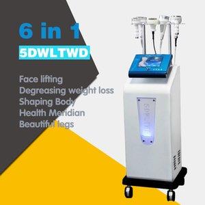 Ahuecamiento máquina de la terapia de cavitación ultrasónica 5D Talla Instrumento Rf cuerpo de la aspiradora que forma adelgazando el chorro de grasa máquina