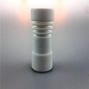 Uñas de cerámica populares de 14 mm con bongs de vidrio sin cúpula femeninos uñas de cerámica en espiral para fumar