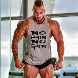 Mens Regatas Musculação Academia Homens Regatas Ginásios Roupa Undershirt Muscle Workout Golds fitness Homens Vest Nova engraçado