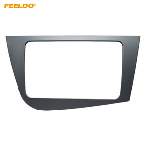 FEELDO Car 2Din Stereo Radio Fascia Frame Adapter for Seat Leon 2005-2011(RHD)Audio Dash Plate Panel Mount Trim Kit #4098