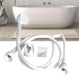 Duschkopf Double Tap Push On Bad Duschkopf und Schlauch Friseur Shampoo Einhand-Pull-Down-Küchenarmatur