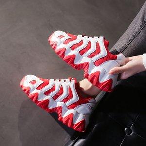 20200525 Сетка вентиляция новая толстая подошва студент обувь случайная корейская версия оригинальная толстая подошва высокого сшивания