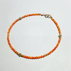 Lii Ji Tiny Orange Zirkon 925 Sterling Silber 18 Karat Vergoldet Delicated Armband Für Frauen Kinder