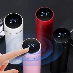 Il nuovo modo tazza di Smart Display della temperatura in acciaio inox vuoto bottiglia di acqua dello schermo bollitore Thermos Cup LCD Touch con il regalo della tazza DBC BH3715