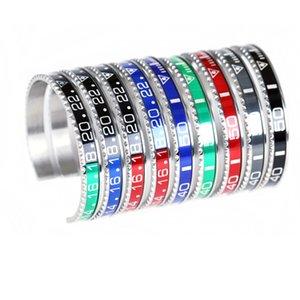 Assistir Engrenagem Pulseiras, moda abertura em forma de C água fantasma pulseira de prata, pulseiras de cor de contraste de ouro, homens e mulheres jóias Pulseiras