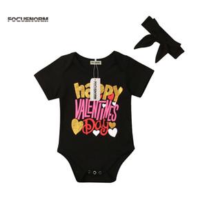 2019 ربيع جديد عيد الحب الرضع يوم كيد طفل رضيع فتاة رومبير بذلة Sunsuit تتسابق الملابس
