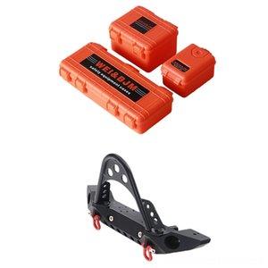 Металлический Bikes Ride-Ons Открытого спорта Игры черного переднего бампера с лампой и декоративными коробками для 110 Rc гусеничной машины Traxxas Trx4 Осевой S
