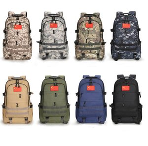 Fashion mens outdoor backpacks army green camouflage backpack cool bags for teenagers boys Mountaineering large capacity Wholesale