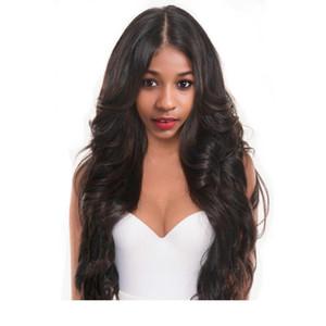 Corporatura onda piena del merletto dei capelli umani parrucche per le donne capelli umani brasiliani Lace Full Frontal parrucche con capelli del bambino nero naturale colore personalizzato