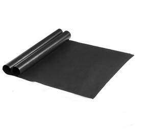 BBQ الشواية حصيرة المحمولة غير لاصقة قابلة لإعادة الاستخدام وجعل الشوي سهل 33 * 40CM الأسود فرن موقد الشواء ماتس أداة EEA86