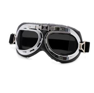 الرجعية للدراجات النارية نظارات نظارات خمر الدراجات النارية و الدراجات الكلاسيكية نظارات لهارلي الطيار Steampunk ATV دراجة خوذة النحاس