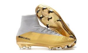 2020 Mens Mercurial Superfly CR7 V FG AG Botas de Futebol Cristiano Ronaldo alta Tops Neymar JR ACC chuteiras Magista Obra de Futebol Grampos