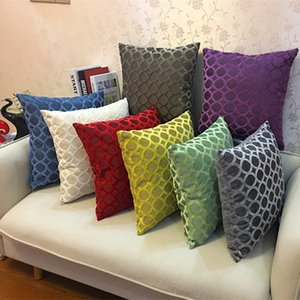 Square Velvet Pillow Covers Fashion Thicken Soft Throw Pillow Case Sofa Chair Pillow Cases Home Decorative Pillowcase GGA2435