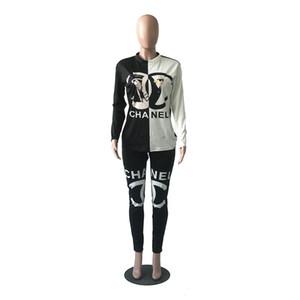 Femmes Designer Set Vêtements Femmes Mode 2019 Imprimer Survêtements Femmes Casual Luxury Hoodie Vêtements + Pantalon de sport pour femmes Vêtements Taille S-2XL