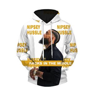 Nipsey Hussle Мужские кофты 3D цифровой печатный с шляпой пуловер горячий хип-хоп рэпер Fshion повседневная Homme одежда