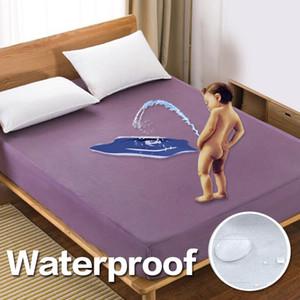 Düz renk Yatak Yatak Örtüsü Su geçirmez Yatak Koruyucu Tampon Gömme Sac Elastik 301-0823 Su Yatak Linens Ayrılmış