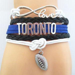 Infinity Love Toronto Football Fan Bracelet Handmade Wristband Friendship Sports Bracelets B09650