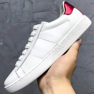 sapatos New Arrival Homens Mulheres Moda Casual sapatos de luxo Designer Sneakers Top Quality Genuine Leather Bee / tiger partido bordado